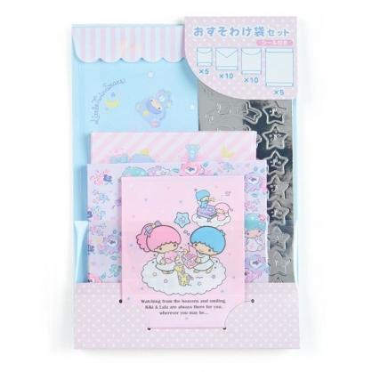 〔小禮堂﹞雙子星 日製信封貼紙組《粉藍.雲上玩》禮金袋.禮物包裝