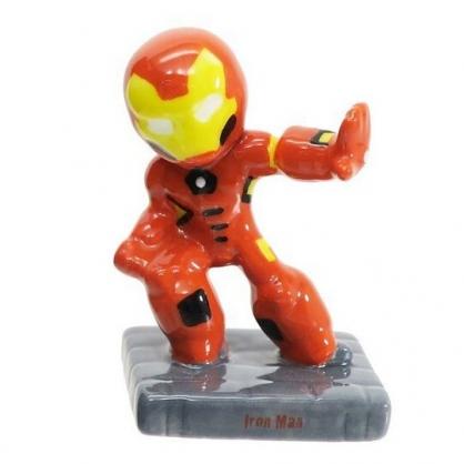 〔小禮堂〕漫威英雄 Marvel鋼鐵人 迷你造型陶瓷擺飾《橘黃.站姿》公仔.模型