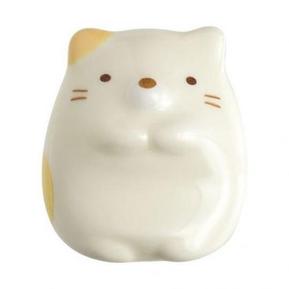 〔小禮堂〕角落生物 貓咪 全身造型陶瓷筷架《米黃》筆架.紙鎮
