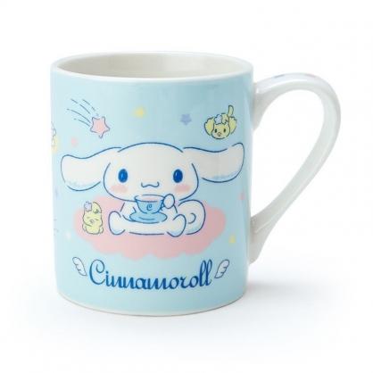 〔小禮堂〕大耳狗 陶瓷馬克杯《綠白.喝咖啡》230ml.茶杯.咖啡杯