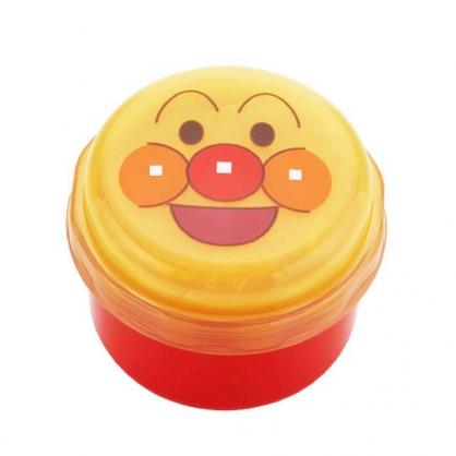 〔小禮堂〕麵包超人 迷你圓形透明塑膠保鮮盒《黃紅.大臉》200ml.便當盒.食物盒.餐盒