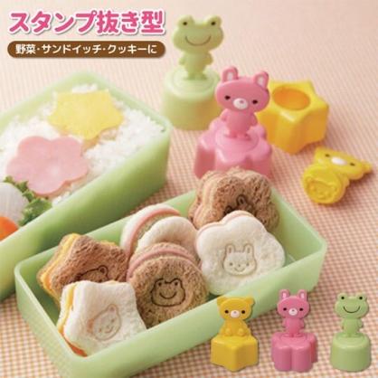 〔小禮堂〕日本TORUNE 可愛動物吐司壓模組《3入.粉黃綠》模型.模具.押花