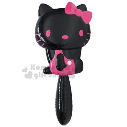 〔小禮堂〕Hello Kitty 造型塑膠氣墊手握梳《黑桃.側坐》氣墊梳.直梳