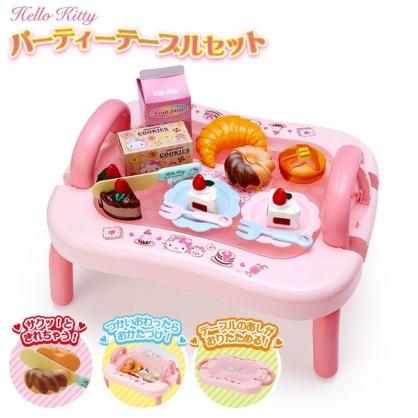 〔小禮堂〕Hello Kitty 可折疊甜點玩具餐桌組《粉.彩色熊》扮家家酒.兒童玩具