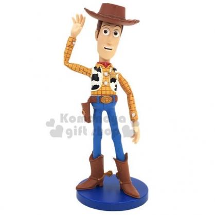 〔小禮堂〕迪士尼 玩具總動員4 胡迪 公仔模型《棕藍.招手》玩具.電影公仔