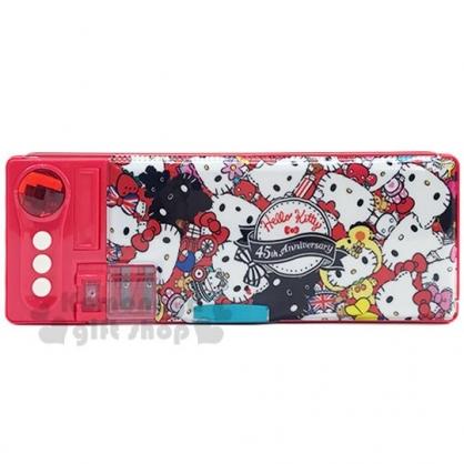 〔小禮堂〕Hello Kitty 雙開式多功能鉛筆盒《紅.變裝滿版》筆袋.學童文具