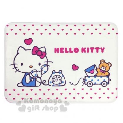 〔小禮堂〕Hello Kitty 方形腳踏墊《米.講電話》65x45cm.止滑海棉軟墊.地墊