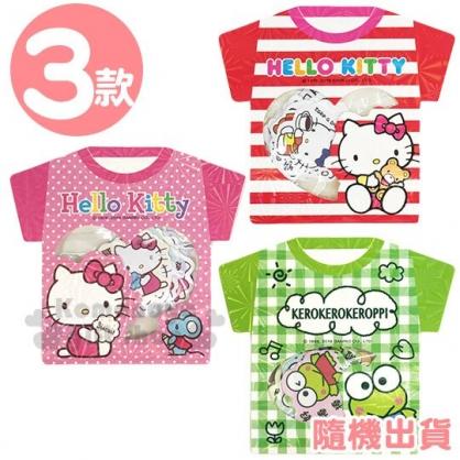 〔小禮堂〕Sanrio大集合 衣服造型貼紙組《3款隨機.粉/紅/綠》裝飾貼.黏貼用品