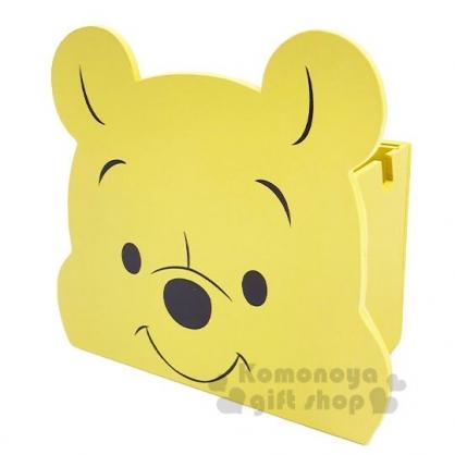 〔小禮堂〕迪士尼 小熊維尼 大臉造型木製相框筆筒收納盒《黃》刷具筒.置物筒