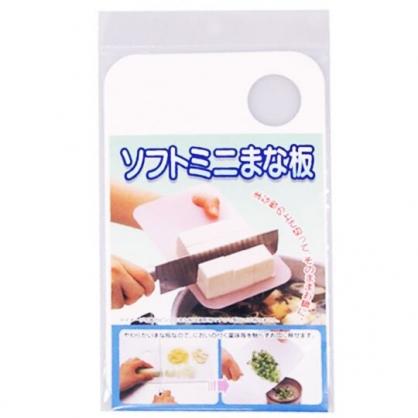 〔小禮堂〕日製迷你可掛式塑膠砧板《白》蔥蒜專用.菜板.切菜板
