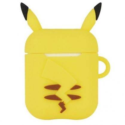 〔小禮堂〕神奇寶貝Pokemon 皮卡丘 Airpods 造型矽膠藍牙耳機盒保護套《黃》Apple Airpods矽膠套