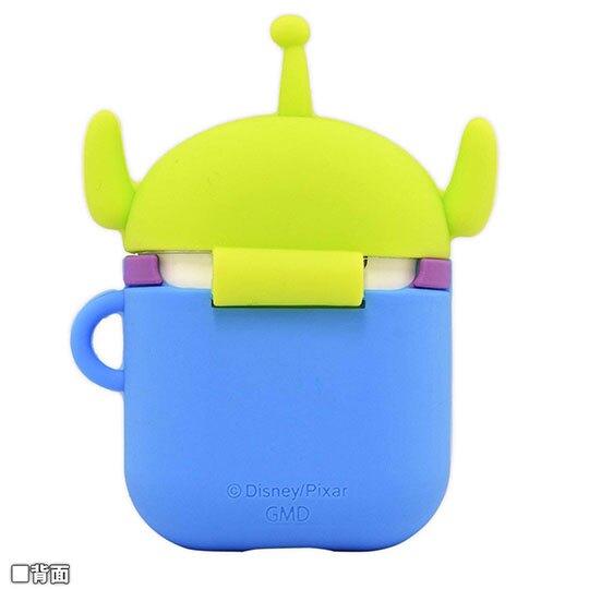 〔小禮堂〕迪士尼 三眼怪 Airpods 造型矽膠藍牙耳機盒保護套《綠藍》Apple Airpods矽膠套
