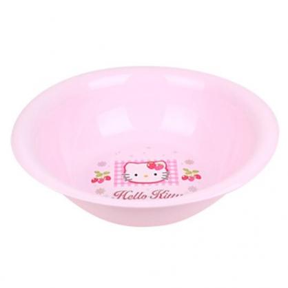 〔小禮堂〕Hello Kitty 圓形塑膠大臉盆《粉.草莓大臉》水盆