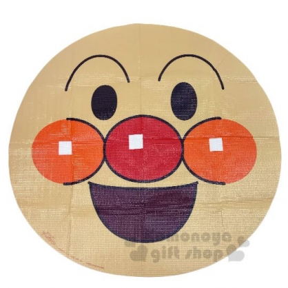 〔小禮堂〕麵包超人 大臉造型單人野餐墊附手提袋《棕》81x90cm.海灘墊