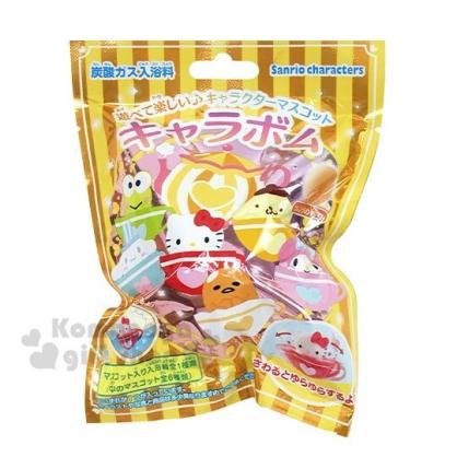 〔小禮堂〕Sanrio大集合 造型入浴球《6款隨機.黃.咖啡杯》入浴劑.泡澡球