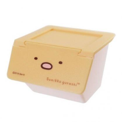 〔小禮堂〕角落生物 豬排 可堆疊塑膠前開式掀蓋收納盒《橘》置物盒.文具盒