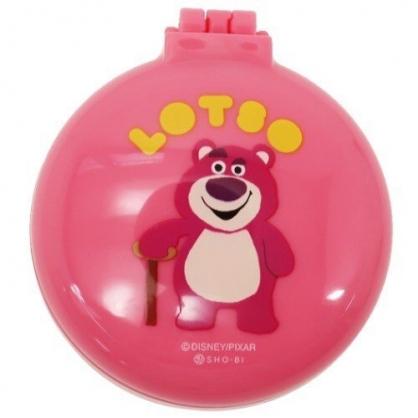 〔小禮堂〕迪士尼 玩具總動員 熊抱哥 圓形掀蓋氣墊隨身鏡梳組《粉.站姿》隨身鏡.隨身梳