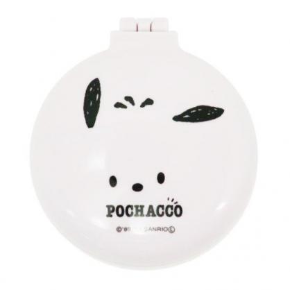〔小禮堂〕帕恰狗 圓形掀蓋氣墊隨身鏡梳組《白.大臉》隨身鏡.隨身梳