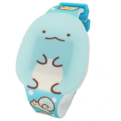 〔小禮堂〕角落生物 恐龍 造型矽膠錶帶電子兒童手錶《綠.坐姿》休閒錶.腕錶.電子錶