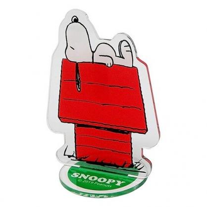 〔小禮堂〕史努比 造型車用塑膠可立夾式告示牌《紅綠.躺屋頂》立牌.名片立夾