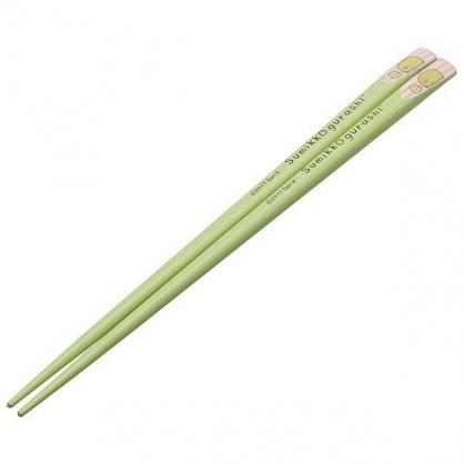 〔小禮堂〕角落生物 企鵝 天然竹筷子《綠.趴姿》22.5cm.木筷.環保筷.環保餐具