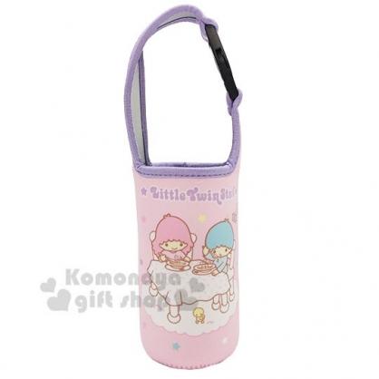 〔小禮堂〕雙子星 潛水布飲料杯套《粉紫.餐桌》手搖杯套.環保杯袋.水壺袋