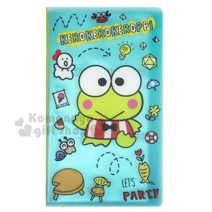 〔小禮堂〕大眼蛙 直式塑膠卡片收納本《綠.招手》名片本.收據本.票卡收納
