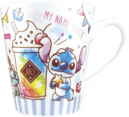 〔小禮堂〕迪士尼 史迪奇 陶瓷馬克杯《藍白.冰沙杯》茶杯.咖啡杯