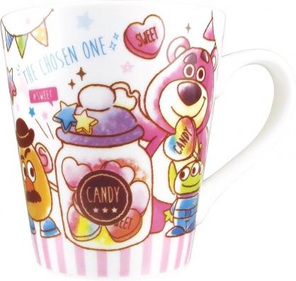 〔小禮堂〕迪士尼 玩具總動員 陶瓷馬克杯《粉白.糖果罐》茶杯.咖啡杯