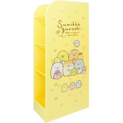 〔小禮堂〕角落生物 桌上型四層直式收納盒《黃.戴花圈》置物盒.筆筒.刷具筒