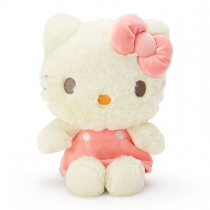 〔小禮堂〕Hello Kitty 絨毛玩偶娃娃《S.米.粉洋裝》擺飾.玩具