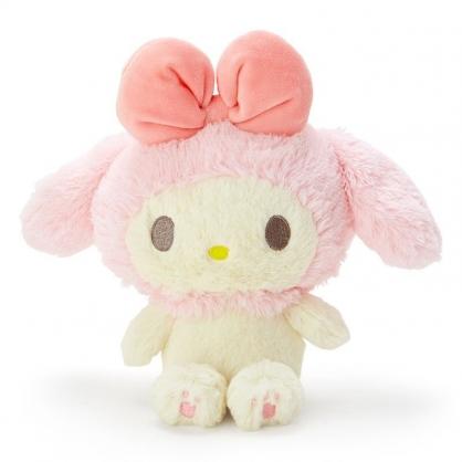 〔小禮堂〕美樂蒂 絨毛玩偶娃娃《S.米.粉帽》擺飾.玩具