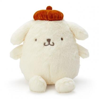 〔小禮堂〕布丁狗 絨毛玩偶娃娃《S.米.棕帽》擺飾.玩具