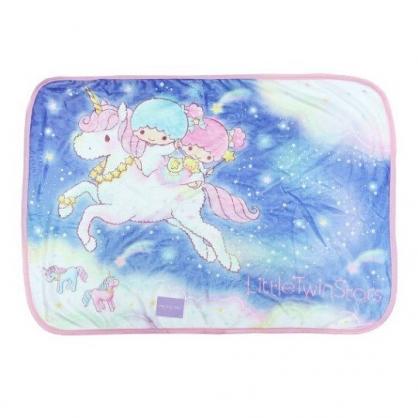 〔小禮堂〕雙子星 圓角毛毯披肩《粉藍.獨角獸》70x100cm.薄毯.單人毯
