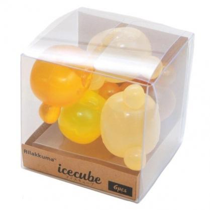 〔小禮堂〕懶懶熊 拉拉熊 造型透明矽膠冰塊組《9入.棕黃》重複使用冰塊.保冰劑