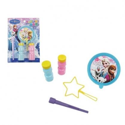 〔小禮堂〕迪士尼 冰雪奇緣 日製吹泡泡玩具組《藍紫.站姿》兒童玩具