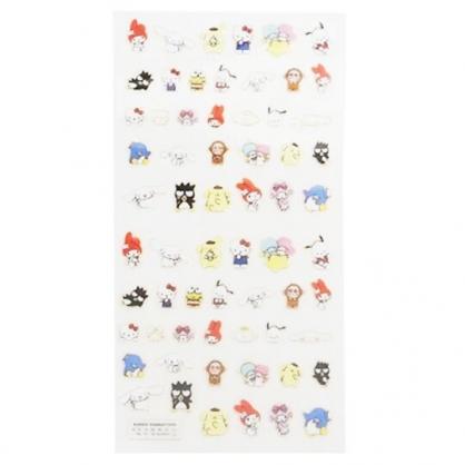 〔小禮堂〕Sanrio大集合 造型燙金貼紙組《紅.角色集合》手帳貼紙.黏貼用品