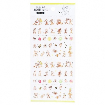 〔小禮堂〕迪士尼 奇奇蒂蒂 造型燙金貼紙組《棕.抱抱》手帳貼紙.黏貼用品