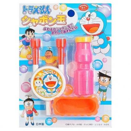 〔小禮堂〕哆啦A夢 日製吹泡泡玩具組《橘藍.天空》兒童玩具