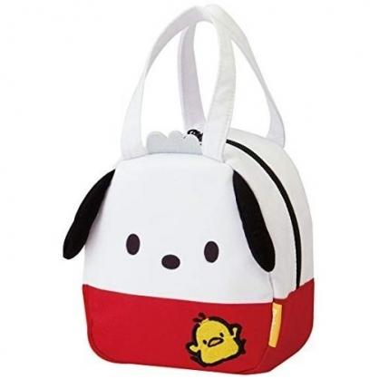 〔小禮堂〕帕恰狗 迷你造型棉質手提袋《紅白.全身》便當袋.外出袋