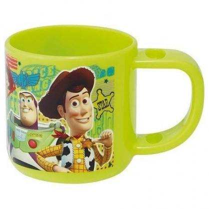 〔小禮堂〕迪士尼 玩具總動員 日製單耳塑膠小水杯《綠.方塊角色》180ml.漱口杯.塑膠杯