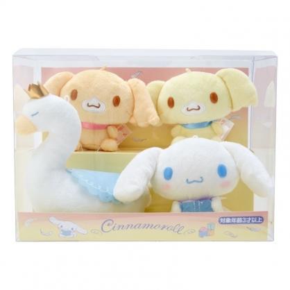 〔小禮堂〕大耳狗 盒裝迷你絨毛玩偶娃娃組《4入.棕白》玩具.擺飾.純白天鵝系列