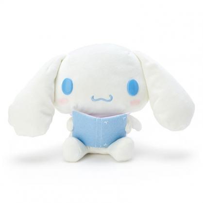 〔小禮堂〕大耳狗 沙包絨毛玩偶娃娃《S.藍白》玩具.擺飾.純白天鵝系列