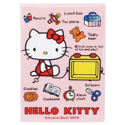 〔小禮堂〕Hello Kitty 2020 迷你行事曆《粉.多玩具》手帳.年曆.記事本