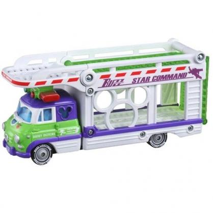 〔小禮堂〕迪士尼 玩具總動員 巴斯光年 TOMICA小汽車連結運輸車《白紫》模型.公仔.玩具車