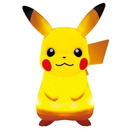 〔小禮堂〕神奇寶貝Pokemon 皮卡丘 全身造型軟矽膠音樂小夜燈《黃》床頭燈.擺飾燈