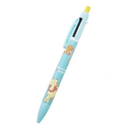 〔小禮堂〕迪士尼 小熊維尼 日製多色原子筆自動鉛筆《淡綠.爬樹》自動筆.雙色筆.SUNSTAR系列