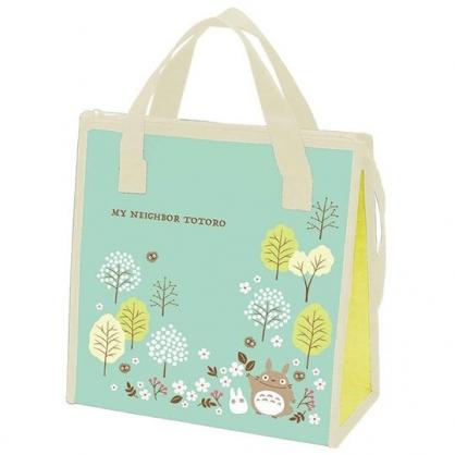 〔小禮堂〕宮崎駿Totoro龍貓 方形不織布保冷手提袋《綠.樹林》便當袋.野餐袋.購物袋