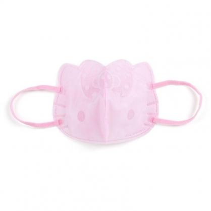 〔小禮堂〕Hello Kitty 成人大臉造型立體不織布口罩組《5入.粉》面罩.衛生用品