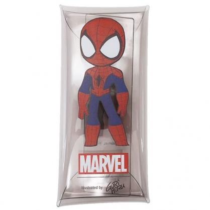 〔小禮堂〕漫威英雄Marvel 蜘蛛人 防水透明扁平扣式筆袋《藍紅.站姿》收納包.鉛筆盒